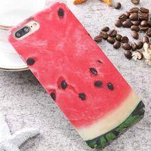 Venda quente realista Bonito Fruta Laranja Melancia Kiwi Coque Para Os Casos de Telefone iphone 6 6 s 6 Mais 6 sPlus 7 7 Plus PC Móvel Da Tampa Do Caso(China)