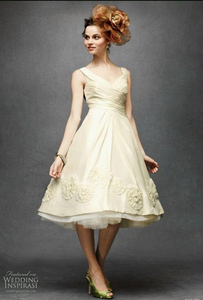 New $1,400 BHLDN Hitherto Silk Duppioni Pinwheel Tea Wedding Dress Size 0