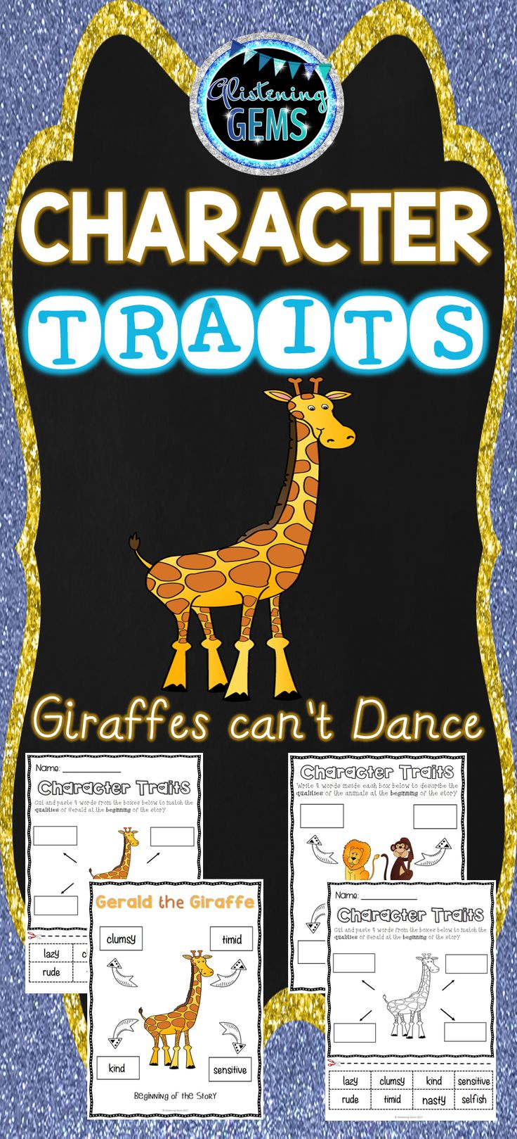 Giraffes Can't Dance Character Trait Activities Pack: Is perfect to use when undertaking units on character traits, narratives or descriptive writing.
