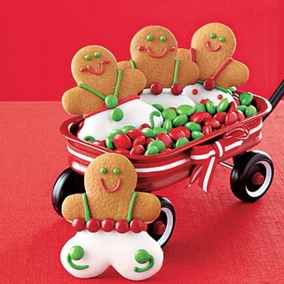 Gingerbread boys and their ride