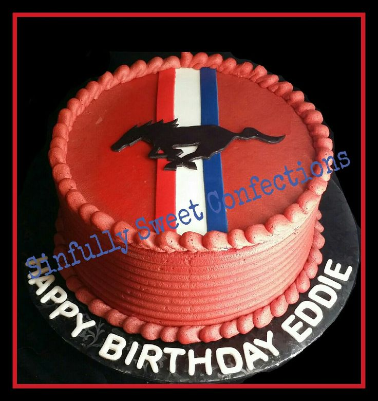 Ford Mustang Themed Birthday Cake