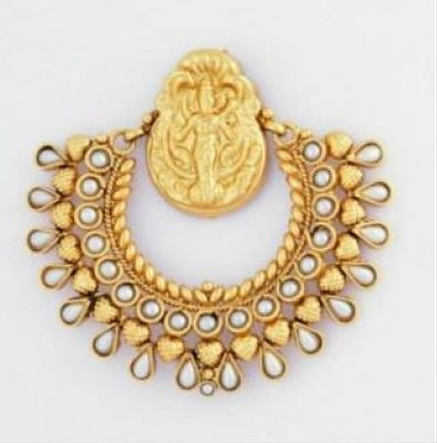 Traditional Ram Leela Earrings with Mahalaxmi