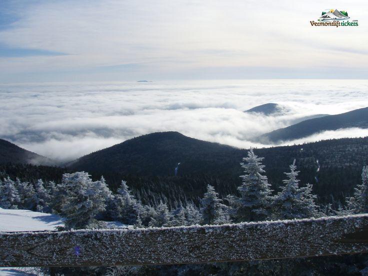 Killington Peak on top of the Killington Ski Resort in Vermont, USA.