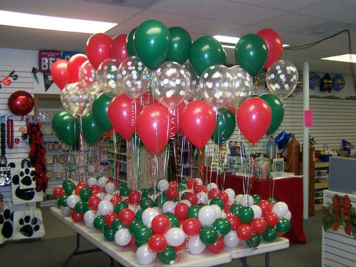 Balloon table centerpieces helium filled tied into