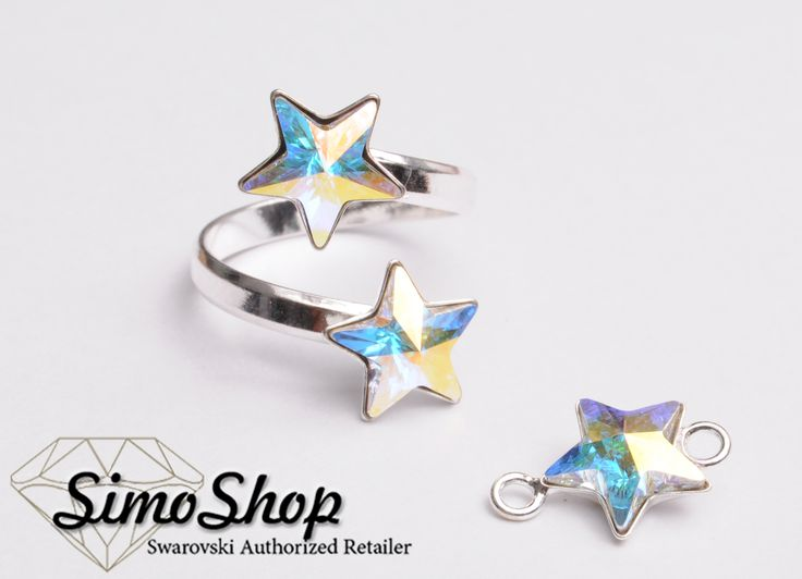 Set pandantiv și inel swarovski cu bază din argint 925! #simoshop #bijuterii #accesorii #argint #swarovskicrystals #swarovski
