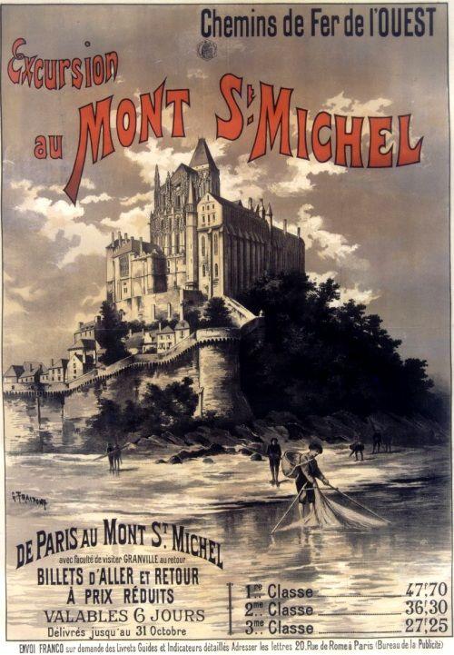Excursion au Mont St Michel. Chemins de fer de l'Ouest (1895)