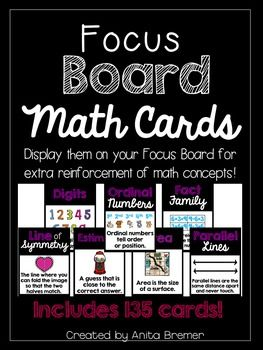 Math Focus Board/Word Wall Charts