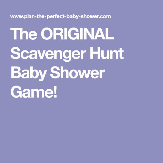 The ORIGINAL Scavenger Hunt Baby Shower Game!