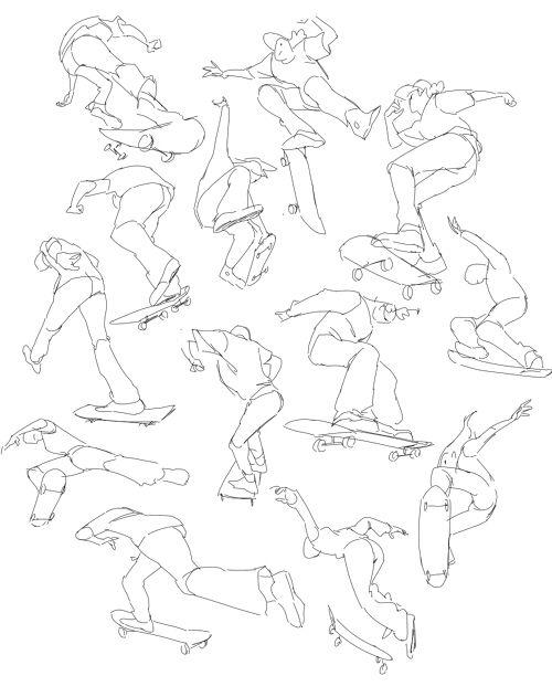 Character Design Gumroad : Besten character pose skating surfing bilder auf
