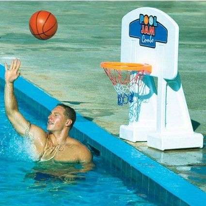 32 best images about pool basketball hoop on pinterest for Pool design for volleyball