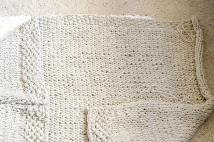простой трикотажные одеяло-свитер узор-лев-бренд
