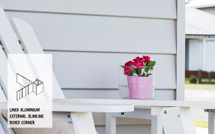 Linea Weatherboard Aluminium External Slimline Box Corner