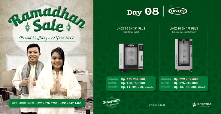 Day 8 Ramadhan Sale : Today we have special offer for Unox electric and gas combi oven. Don't miss our Ramadhan Sale special price for today! #ramadhansale #unox #combioven