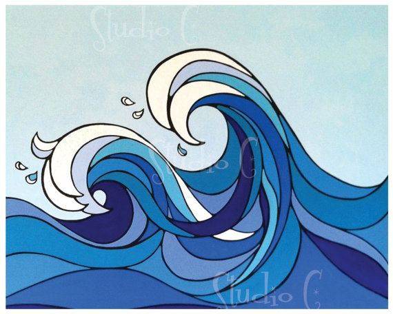 Waves 8X10 Quality Print by studioCshop on Etsy