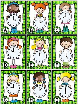 Telling time math stations and activities