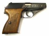 """Gun Hand Engraving: """"Mauser HSC .32 ACP (PR20120 )"""" - Mauser Pistols"""