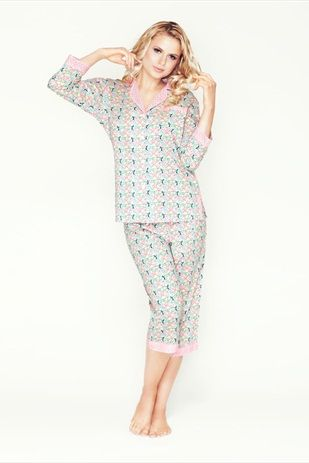 Let's get cosy in a Mio Lounge pyjama set. Check out the funky prints!