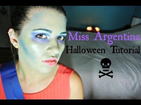 Halloween Series : DIY Miss Argentina Costume & Makeup Tutorial