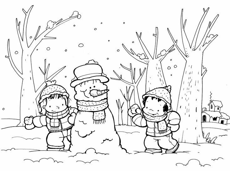 149 Dibujos Para Imprimir Colorear O Pintar Para Niños: Más De 25 Ideas Increíbles Sobre Dibujos Invierno En