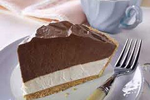 Double-Layer Pie Recipe...I used to make this years ago..you canj  lower the fat and sugar by using FF cream cheese and FF cool whip and SF chocolate pudding...