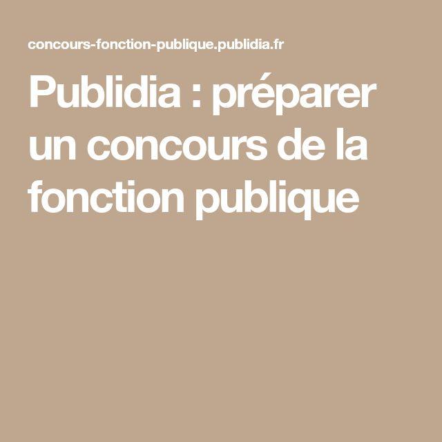 Publidia : préparer un concours de la fonction publique
