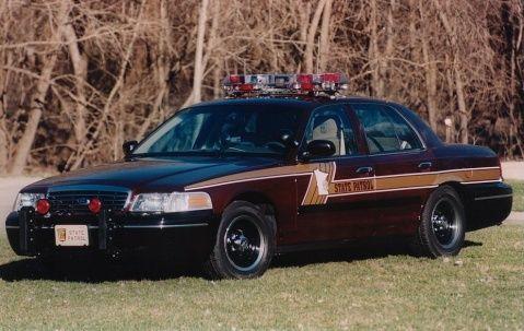 Minnesota State Police, mid-1990's patrol car
