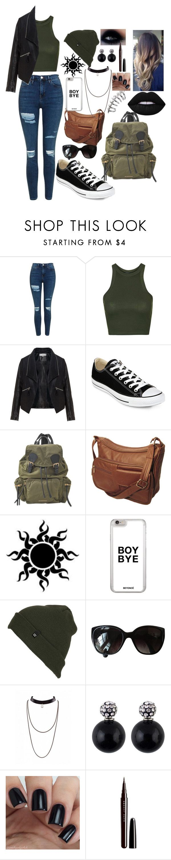 """""""Untitled #54"""" by no-play-qveen on Polyvore featuring Topshop, Zizzi, Converse, Burberry, Billabong, Chanel, Marc Jacobs and Lime Crime"""