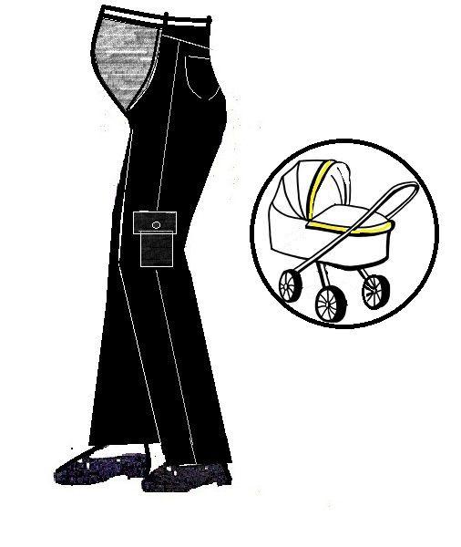 Těhotenské kalhoty se sedlem Návod, střih a postup na zhotovení kalhot pro budoucí maminku Jde o jednoduchý základní střih s pohodlným sedlem na bříšku Měření postavy: obvod pasu - v nejužším místě trupu obvod sedu - po obvodu pánve přes vystoupliny hýždí boční hloubka sedu - od pasu po pevnou podložku (v sedě) boční délka dolní končetiny - od pasu přes ...
