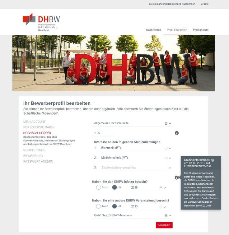 Die Duale Hochschule Baden-Württemberg in Mannheim startet zum heutigen Tag ein neues kostenloses Serviceangebot. Über die Online-Plattform Bewerber-Börse kommen Studieninteressierte und Ausbildungsunternehmen in Kontakt. Studieninteressierte hinterlegen ihr Bewerberprofil einmalig auf der Plattform und machen Angaben zu gewünschten Studiengängen und Einsatzorten…