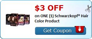 New #Coupon!  $3.00 OFF on ONE (1) Schwarzkopf® Hair Color Product! - http://www.stacyssavings.com/new-coupon-3-00-off-on-one-1-schwarzkopf-hair-color-product/