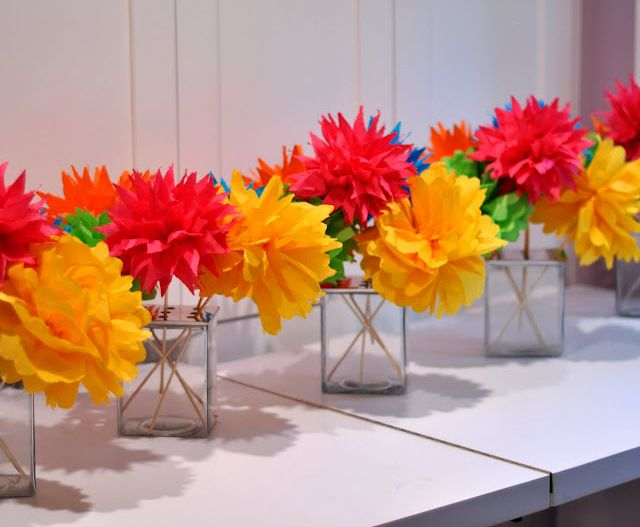 elegant fiesta party decorations create lots of paper poms to add a festive flare to - Fiesta Decorations