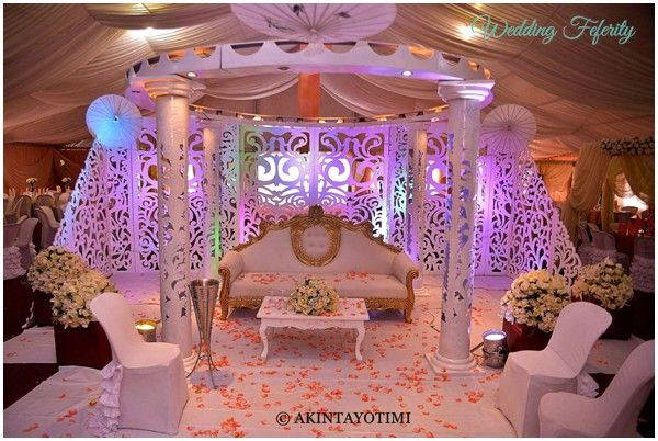 29 best images about white wedding stage on pinterest for Hall decoration pictures
