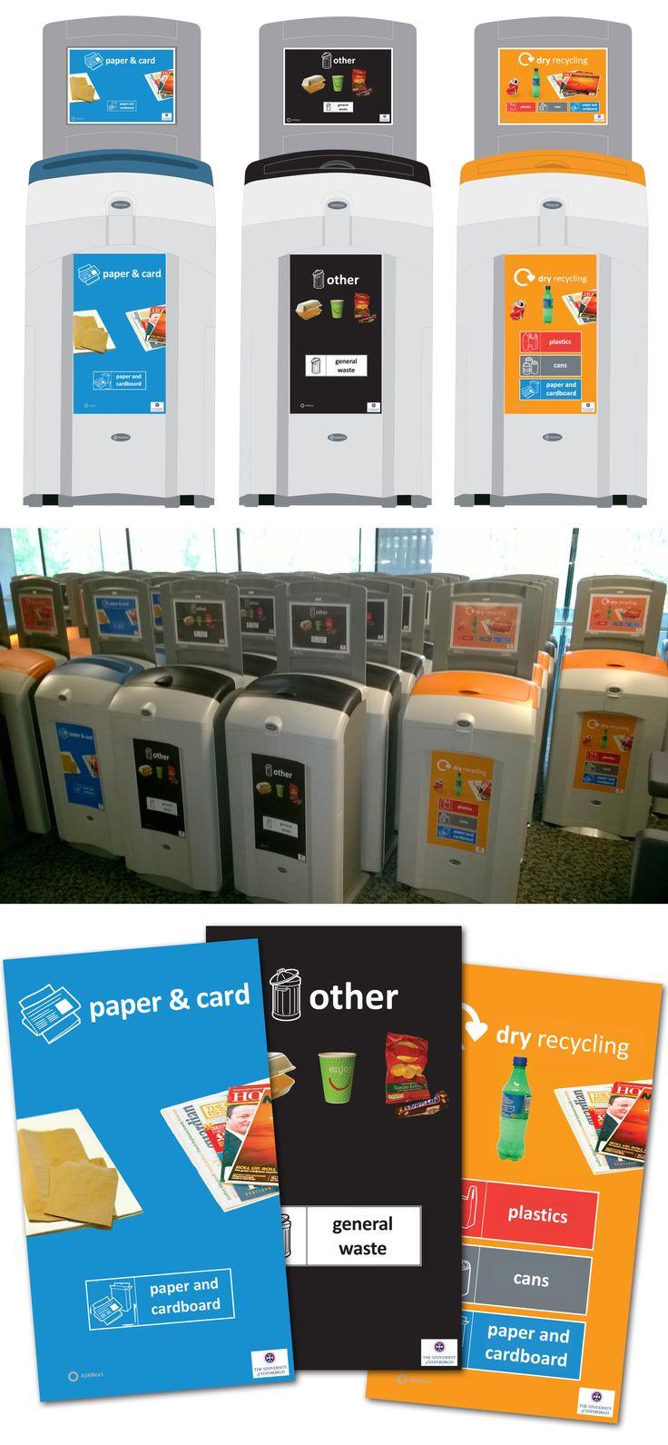 Personalised Nexus® 100 recycling bins for the University of Edinburgh