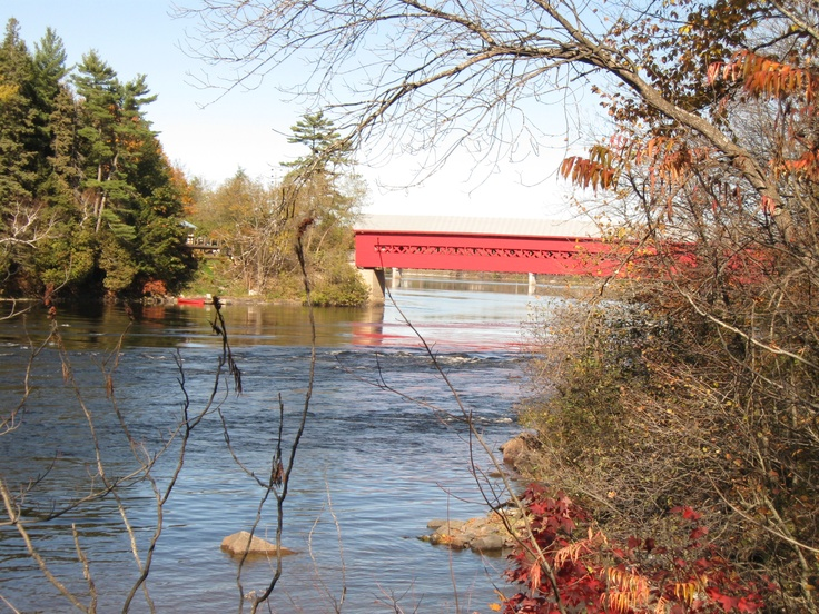 Wakefield, Quebec, Canada   Covered Wooden Bridge