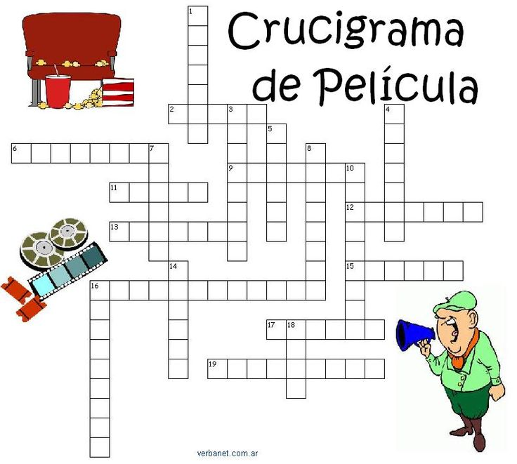 Cine y Peliculas - Crucigrama - EDP en verbanet.com.ar/edp.html