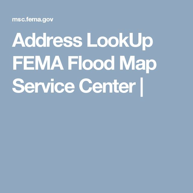Address LookUp FEMA Flood Map Service Center |