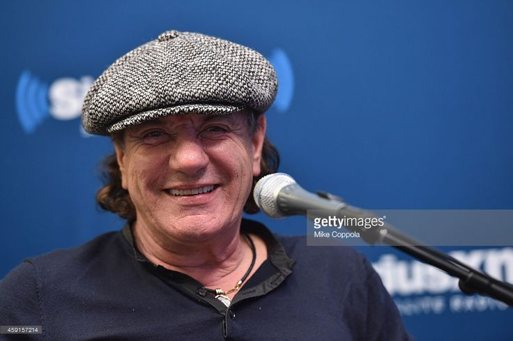 Singer Brian Johnson of the band AC/DC attends the SiriusXM's 'Town Hall' With AC/DC's Angus Young And Brian Johnson on November 17, 2014 in New York City.