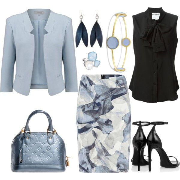Untitled #2253 by emmafazekas on Polyvore featuring Moschino, Soaked in Luxury, HUGO, Yves Saint Laurent, Louis Vuitton and Nadri