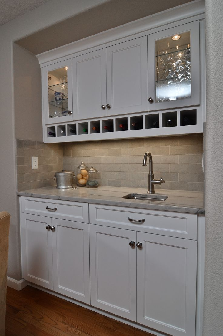 A wet bar in the family room
