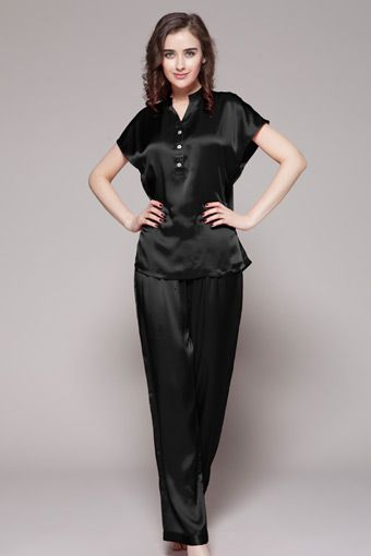 Black Silk Pajamas: 1000+ Ideas About Womens Silk Pajamas On Pinterest
