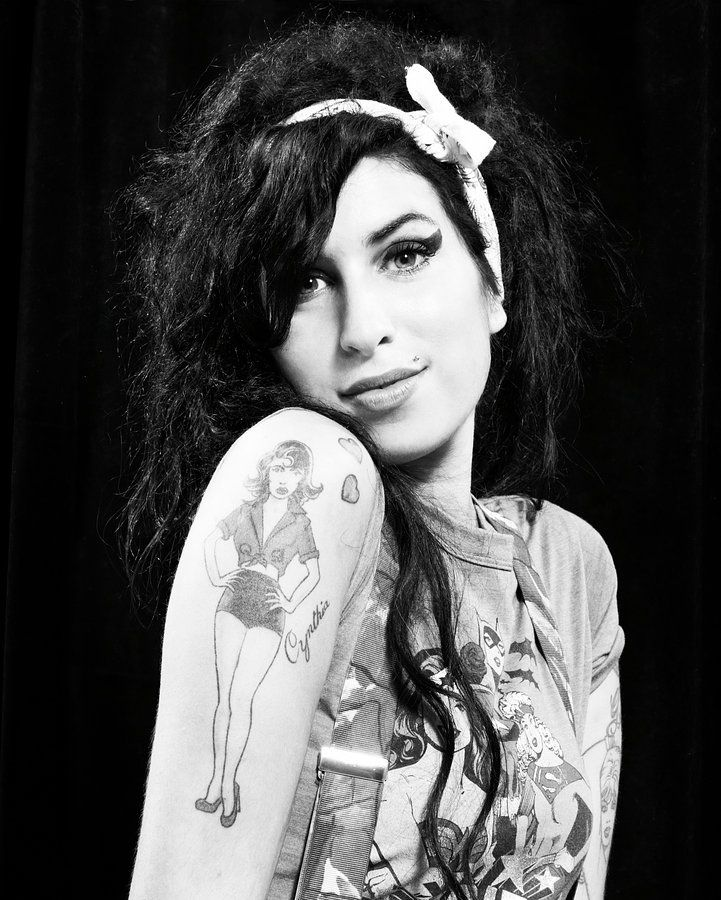 Amy Winehouse's tattoo of grandmother Cynthia.
