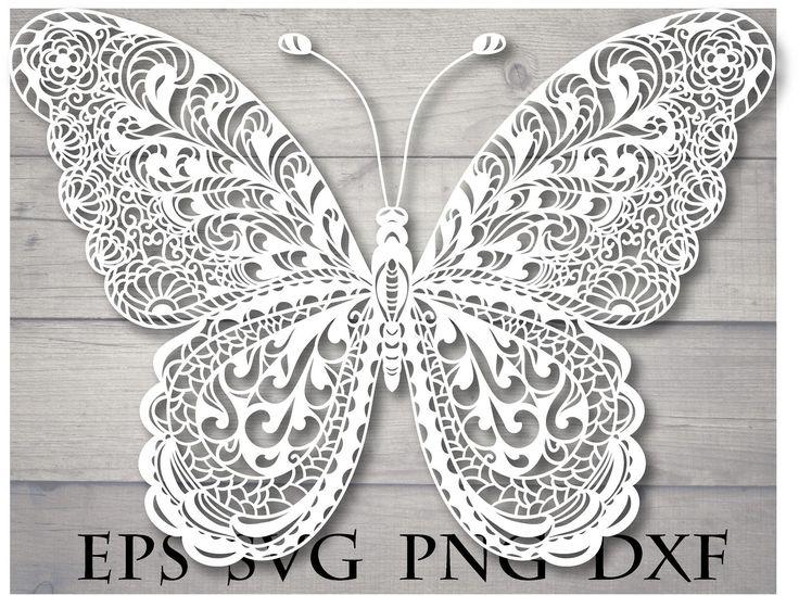 Download Mandala butterfly svg zentangle in 2020 | Butterflies svg ...