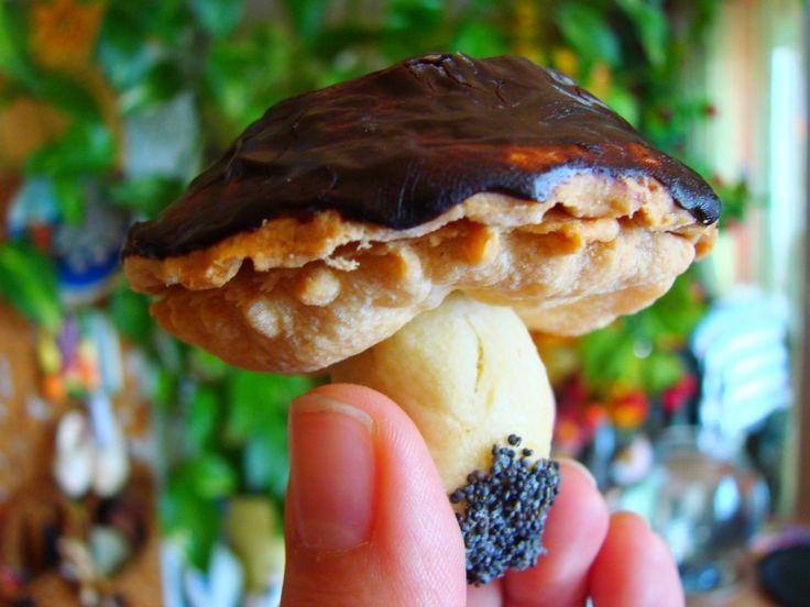 Grzybki - ciasteczka z kremówką KROK PO KROKU   Tradycyjna kuchnia