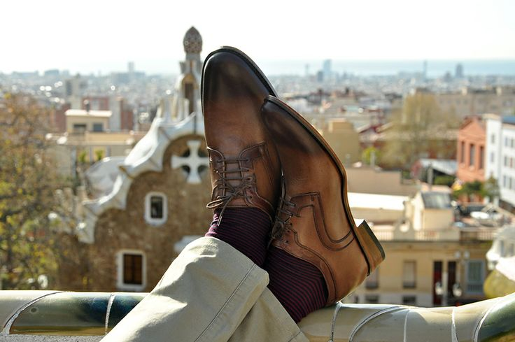 Barcelona landscape and #Betelli height increasing #men's #shoes