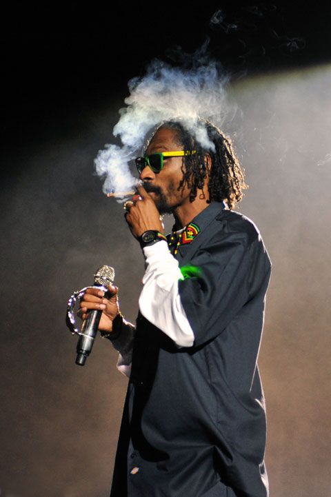 Rappers are stereotypically linked with drug use as that is many of the subjects talked about throughout the hip-hop culture. The most popular rapper who is to be linked with smoking weed would be Snoop Dogg. A Rap fan may feel influenced by this choice of life.