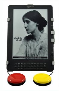 PageBot for KindleFire from Origin Instruments. Switch-based access solutions enable independent reading of books and long form documents by people who cannot hold the Kindle or press its buttons.