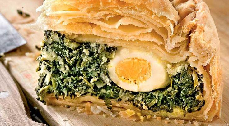 Пасхальный яичный пирог