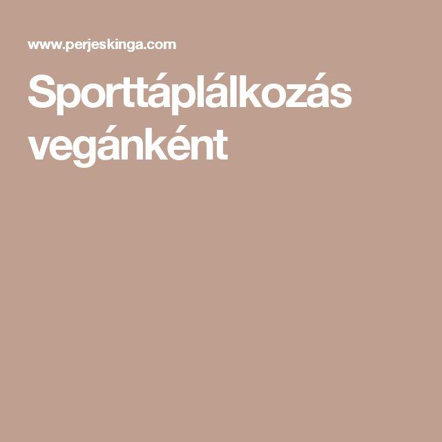 Sporttáplálkozás vegánként