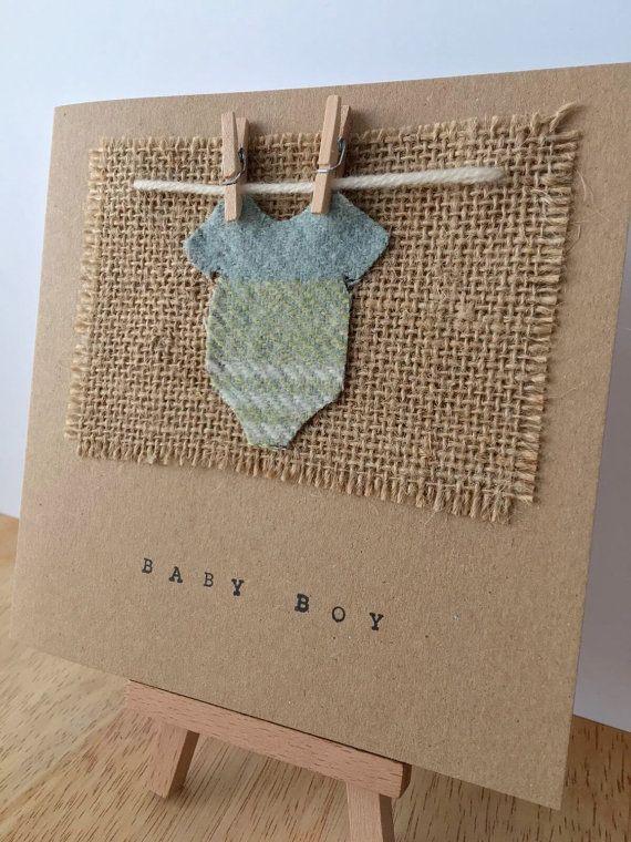 New Baby Boy Card Baby Boy Baby Card New Baby Baby by TheWeeLoft