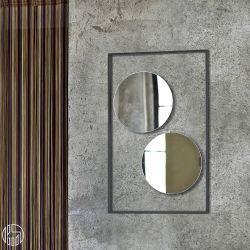 Trucco: Miroir circulaire de Bontempi Casa, individuel ou double, composé de cadre en acier laqué en plusieurs couleurs. - Sediarreda